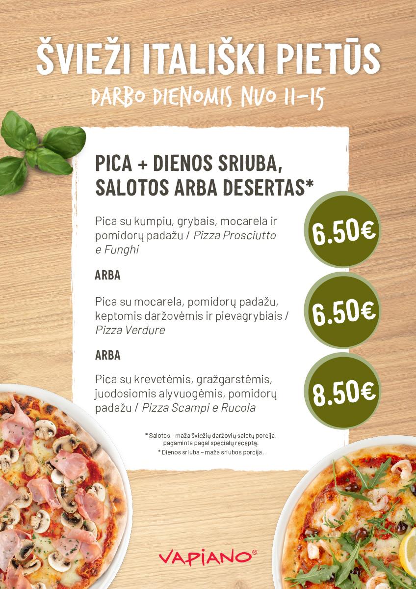 Pietų pasiūlymai pica4